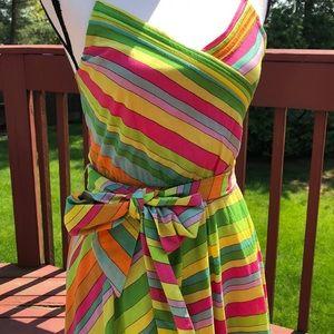 Marc Jacobs vibrant striped dress